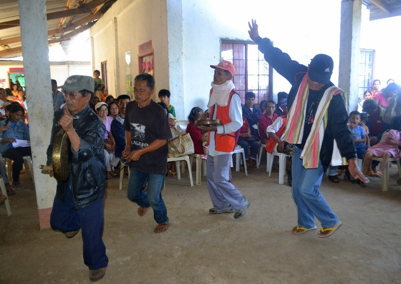 The community elders in Ramot, Santol, La Union dancing to gongs in celebration, a shared practice with communities in the upstream province of Benguet. To some degree, the river also acts as a conveyor of culture.